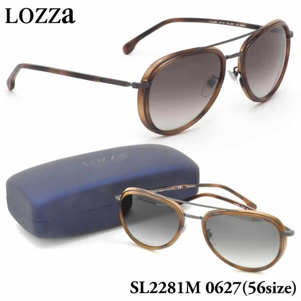 ロッツァ LOZZA サングラス SL2281M 0627 56サイズ COMO 2 LOZZA メンズ レディース