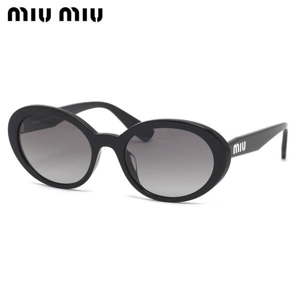 ミュウミュウ MIUMIU サングラス MU01USA 1AB3M1 53サイズ オーバル キャッツアイ フォックス キャットアイ ミウミウ グラデーションレンズ 黒 レディース