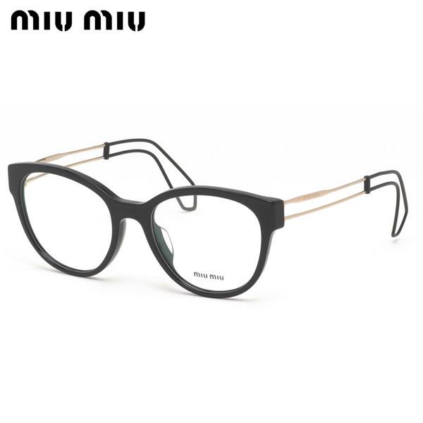 【ミュウミュウ】 (MIUMIU) メガネMU03PVA 1AB1O1 54サイズボストン アジアンフィット MIUMIU レディース
