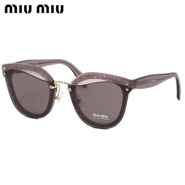 ミュウミュウ MIUMIU サングラスMU03TS SRO6X1 65サイズREVEAL リヴィール クリアカラー グリッター モード ブロー キャッツアイミュウミュウ MIUMIU レディース