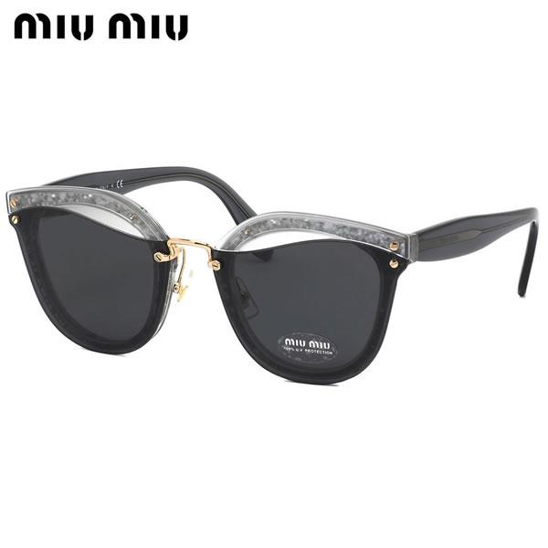 ミュウミュウ MIUMIU サングラスMU03TS UES5S0 65サイズREVEAL リヴィール クリアカラー グリッター モード ブロー キャッツアイミュウミュウ MIUMIU レディース