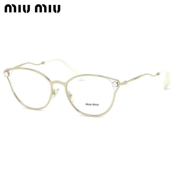 ミュウミュウ MIUMIU メガネMU53QV ZVN1O1 52サイズキャッツアイ パール レディース 華奢ミュウミュウ MIUMIU レディース