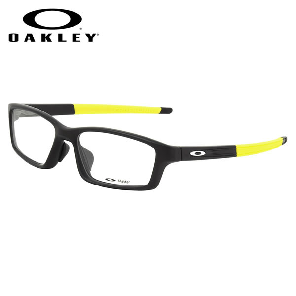 138dd075af (Oakley) glasses OX8041-1856 CROSSLINK PITCH ASIA FIT Satin Black Team  Yellow CROSSLINKPITCH cross-linked pitch Asian fit sports square ITA glasses  free ...