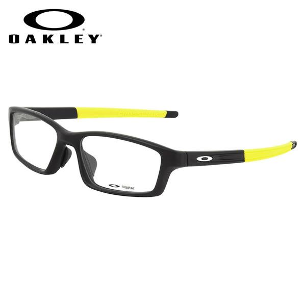 【OAKLEY】(オークリー) メガネ OX8041-1856 CROSSLINK PITCH ASIA FIT Satin Black Team Yellow CROSSLINKPITCH クロスリンクピッチ アジアフィット スポーツ スクエア 伊達メガネレンズ無料 オークリー OAKLEY メンズ レディース