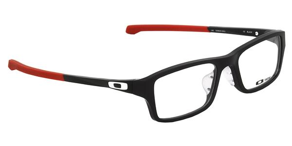 (OAKLEY) メガネOX8045-0653CHAMFER ASIA FIT Satin Black Redシャンファー アジアフィット スクエアOAKLEY 伊達メガネレンズ無料 メンズ レディース