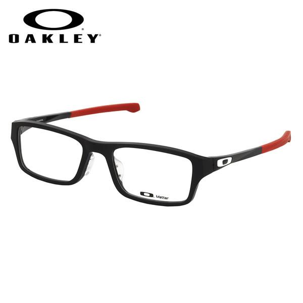 【オークリー】 (OAKLEY) メガネOX8045-0655CHAMFER ASIA FIT Satin Black Redシャンファー アジアフィット スクエアOAKLEY 伊達メガネレンズ無料 メンズ レディース