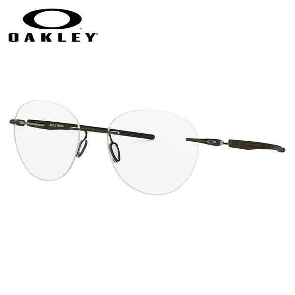 オークリー OAKLEY メガネOX5143-02-51DRILL PRESS ドリルプレス 縁なし リムレス ボストン ブロンズPewter オークレー かっこいい 近視 乱視 遠視 老眼伊達メガネレンズ無料 メンズ レディース