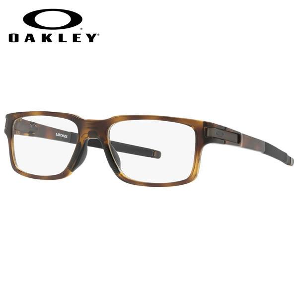 オークリー OAKLEY メガネOX8115-06LATCH EX ラッチEX クリップヒンジ スケーター TRUBRIDGE トゥルーブリッジPolished Brown Tortoise スクエアオークリー OAKLEY 伊達メガネレンズ無料 メンズ レディース