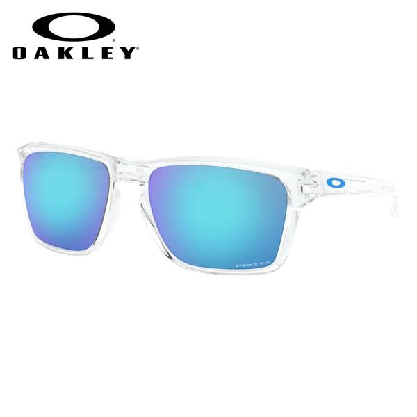 オークリー OAKLEY サングラス OO9448-04-57 SYLAS サイラス Polished Clear / Prizm Sapphire ミラーレンズ オークレー メンズ レディース