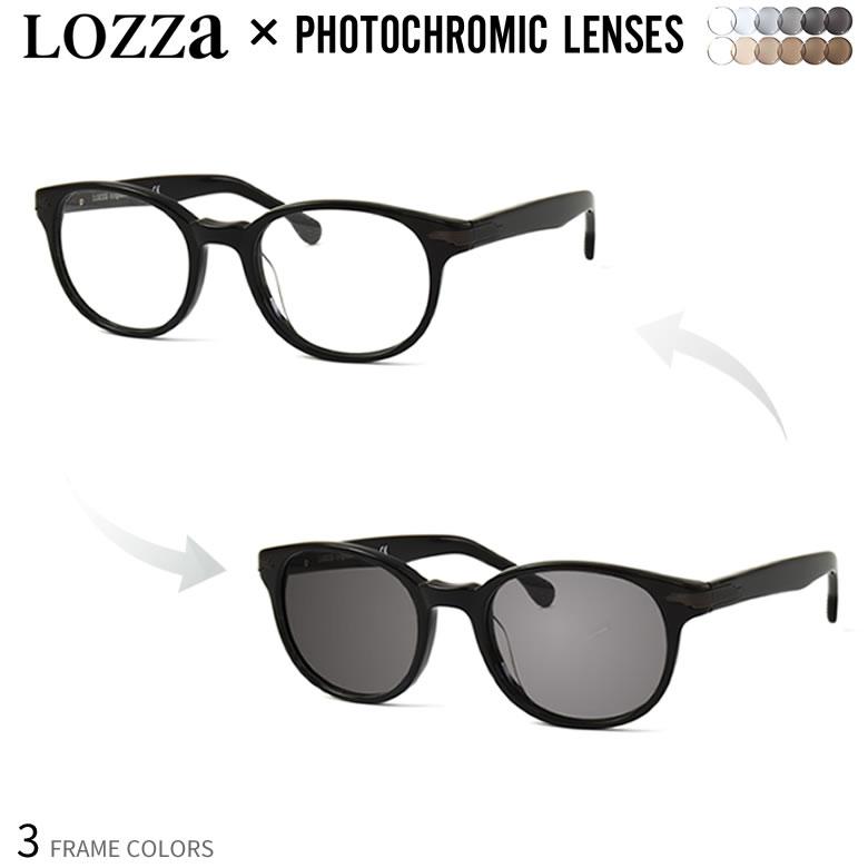 ロッツア 調光 サングラス 眼鏡 色が変わる UVカット 紫外線カット フォトクロミック LOZZA VL4102 UV400 ダテメガネ 2WAY 安全 健康 [OS]