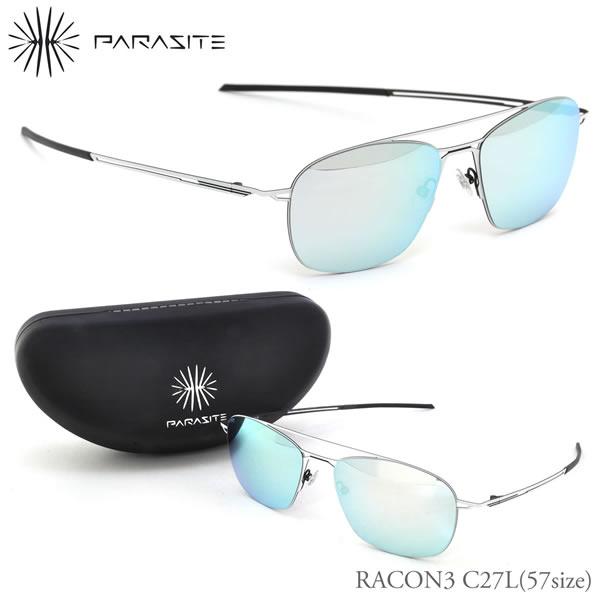 【PARASITE】(パラサイト) サングラス RACON3 C27L 57サイズ RACON3 ミラー パラサイト PARASITE メンズ レディース