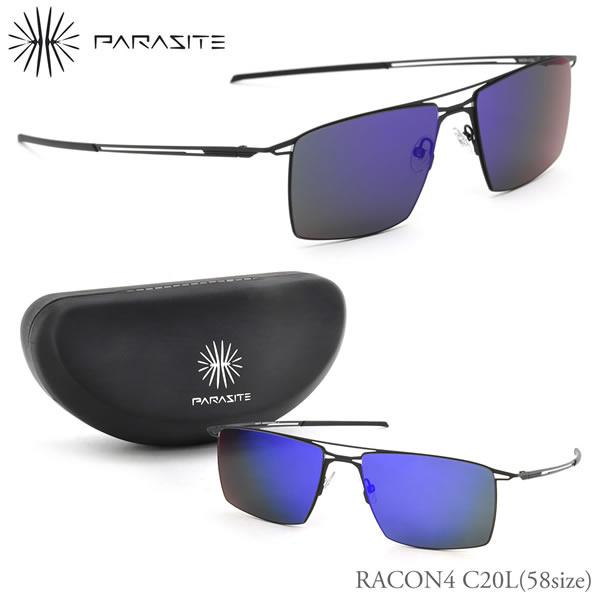 【PARASITE】(パラサイト) サングラス RACON4 C20L 58サイズ スクエア ミラー monoシリーズ パラサイト PARASITE レーコン4 メンズ レディース