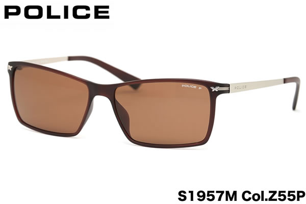 【POLICE】ポリス サングラス 偏光サングラス S1957M Z55P 58サイズ 偏光レンズ LOOKBLACK 3ポリス POLICE メンズ レディース