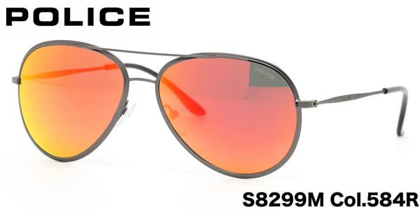 POLICE ポリス サングラス ネイマール モデル S8299M 584C 58サイズ ポリス POLICE メンズ レディース