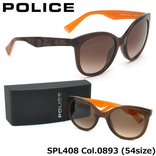 【ポリス】 (POLICE) サングラスSPL408 0893 54サイズSAVAGE2 キャッツアイ ラウンドPOLICE メンズ レディース