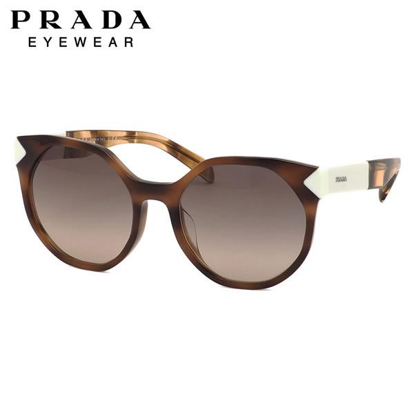 プラダ PRADA サングラス PR11TSF USG3D0 55サイズ ボストン イレギュラー ハバナ フルフィット プラダ PRADA メンズ レディース