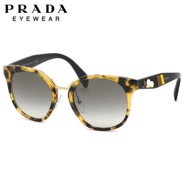 プラダ PRADA サングラスPR17TS 7S00A7 53サイズウェリントン 異素材 ミックス モード フラワーモチーフ ノーブルプラダ PRADA メンズ レディース