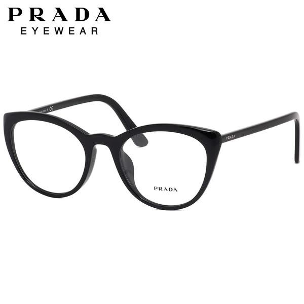 プラダ PRADA メガネ PR07VVF 1AB1O1 53サイズ アジアンフィット フルフィット MADE IN ITALY フォックス キャッツアイ キャットアイ おしゃれ 黒縁 黒ぶち メンズ レディース