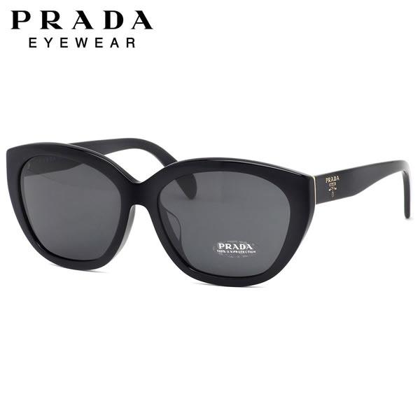 プラダ PRADA サングラス PR16XSF 1AB5S0 59サイズ プラダミラノ キャッツアイ 黒 大きめ エンブレムロゴ おしゃれ MADE IN ITALY メンズ レディース