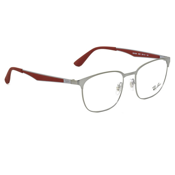4fd1302d340e レイバン メガネRX6356 2880 52サイズACTIVE LIFESTYLE スクエア ウェリントン メタルサーモント シート材 軽い  軽量レイバン RayBan メンズ レディース Ray-Ban-眼鏡