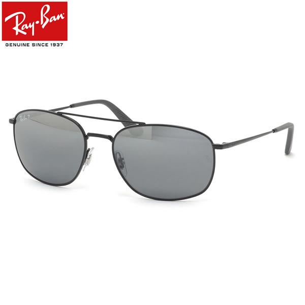 Ray-Ban レイバン サングラス RB3654 008/82 60サイズ ツーブリッジ ダブルブリッジ 偏光レンズ ミラーレンズ メンズ レディース