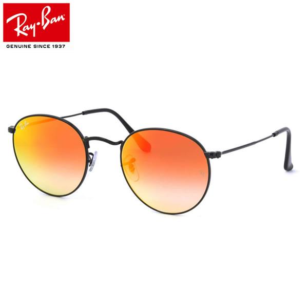 レイバン サングラス ミラー ラウンドメタル Ray-Ban RB3447 002/4W 50サイズレイバン RAYBAN ROUND FLASH LENSES GRADIENT 0024W METAL 丸メガネ ミラー ICONS アイコン メンズ レディース