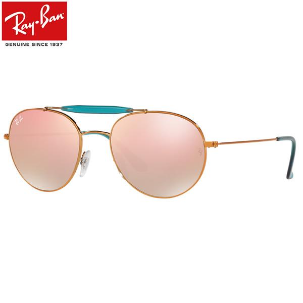 レイバン サングラス ミラー Ray-Ban RB3540 198/7Y 53サイズレイバン RAYBAN 1987Y OUTDOORSMAN アウトドアーズマン ツーブリッジ ダブルブリッジ ROUND ラウンド ボストン 丸メガネ ミラー メンズ レディース
