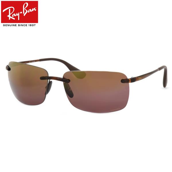 レイバン サングラス ミラー 偏光 クロマンス Ray-Ban RB4255 604/6B 60サイズレイバン RAYBAN CHROMANCE LENSES 6046B フチなし ツーポイント 偏光レンズ 偏光サングラス メンズ レディース
