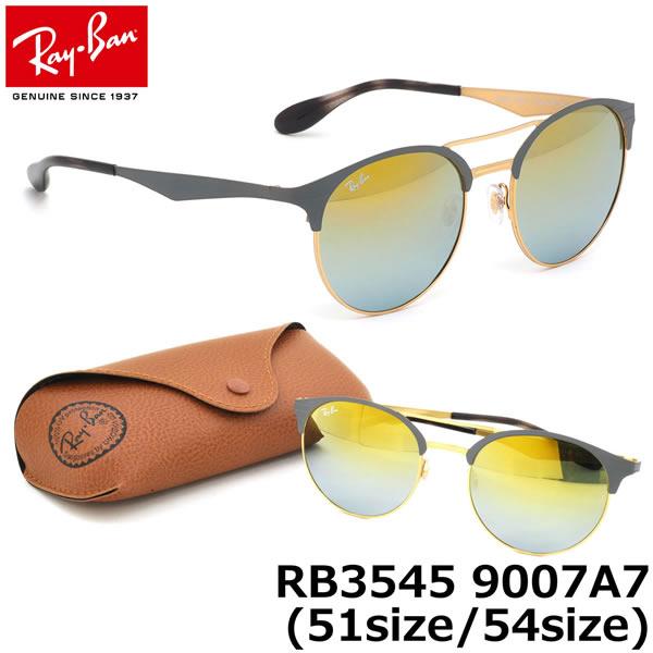 レイバン サングラス ミラー Ray-Ban RB3545 9007A7 51サイズ 54サイズレイバン RAYBAN FLASH LENSES GRADIENT 9007/A7 ツーブリッジ ダブルブリッジ ROUND ラウンド 丸メガネ ミラー メンズ レディース