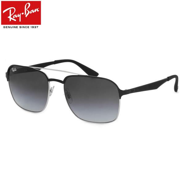Ray-Ban レイバン サングラスRB3570 90048G 58サイズACTIVE LIFESTYLE アクティブライフスタイル ツーブリッジ ダブルブリッジ スクエア グラデーション ラバー コンビネーションレイバン RayBan メンズ レディース
