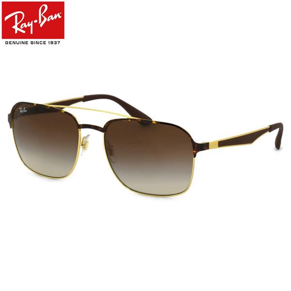 Ray-Ban レイバン サングラスRB3570 900813 58サイズACTIVE LIFESTYLE アクティブライフスタイル ツーブリッジ ダブルブリッジ スクエア グラデーション ラバー コンビネーションレイバン RayBan メンズ レディース