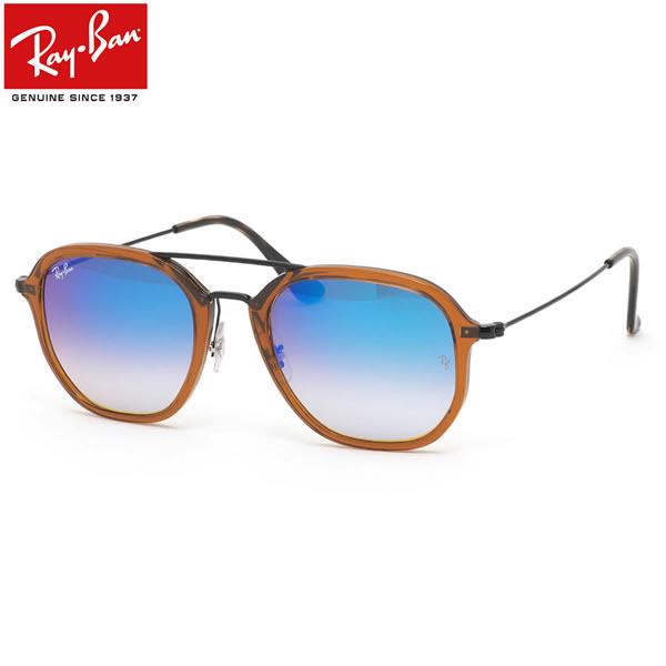 レイバン サングラス ミラー Ray-Ban RB4273 62588B 52サイズレイバン RAYBAN FLASH LENSES GRADIENT 6258/8B ツーブリッジ ダブルブリッジ ミラー ブルーレンズ メンズ レディース