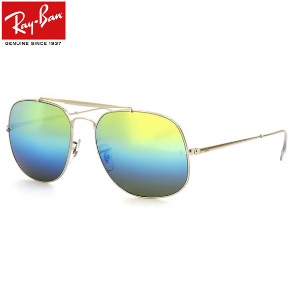 Ray-Ban レイバン サングラスRB3561 003/I2 57サイズTHE GENERAL ザ・ジェネラル アビエーター スクエア グラデーションミラーレイバン RayBan メンズ レディース