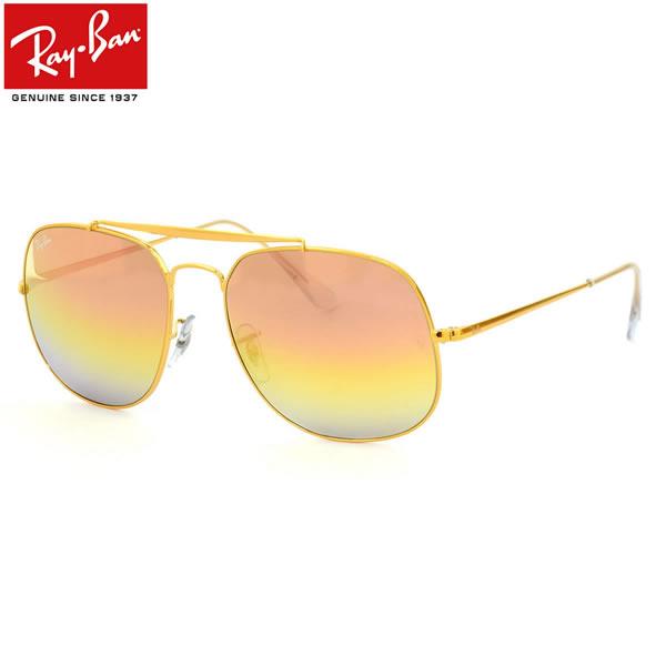 Ray-Ban レイバン サングラスRB3561 9001I1 57サイズTHE GENERAL ザ・ジェネラル アビエーター スクエア グラデーションミラーレイバン RayBan メンズ レディース