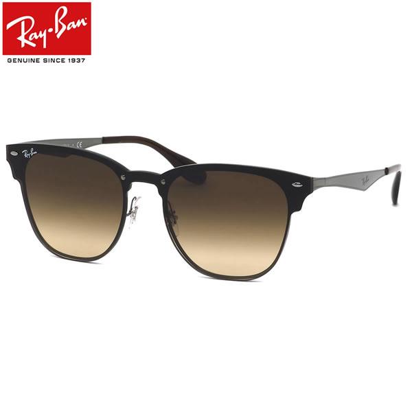 Ray-Ban レイバン サングラスRB3576N 041/13 141サイズ 147サイズBLAZE CLUBMASTER ブレイズ クラブマスター ミラー フラット 1枚レンズ ブローレイバン RayBan メンズ レディース
