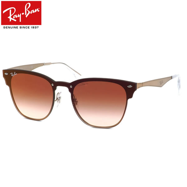 Ray-Ban レイバン サングラスRB3576N 9039V0 141サイズ 147サイズBLAZE CLUBMASTER ブレイズ クラブマスター ミラー フラット 1枚レンズ ブローレイバン RayBan メンズ レディース