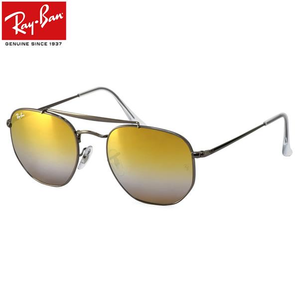 Ray-Ban レイバン サングラスRB3648 004/I3 51サイズ 54サイズHEXAGONAL ヘキサゴン MARSHAL マーシャル グラディエントミラー ダブルブリッジ  ツーブリッジレイバン RayBan メンズ レディース