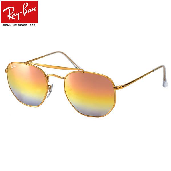Ray-Ban レイバン サングラスRB3648 9001I1 51サイズ 54サイズHEXAGONAL ヘキサゴン MARSHAL マーシャル グラディエントミラー ダブルブリッジ  ツーブリッジレイバン RayBan メンズ レディース