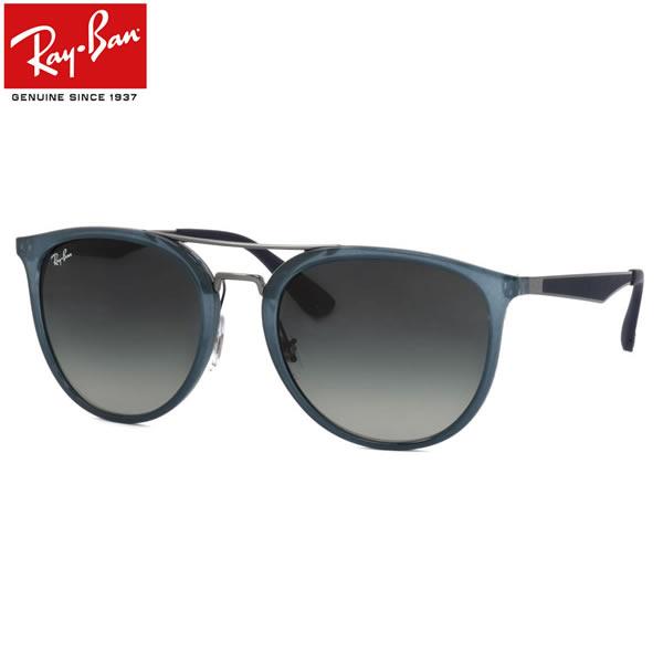 Ray-Ban レイバン サングラスRB4285 630311 55サイズフラットメタル ツーブリッジ ラウンド RUBBER ラバーレイバン RayBan メンズ レディース