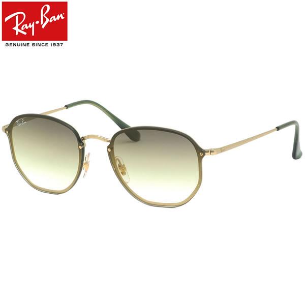 Ray-Ban レイバン サングラスRB3579N 91400R 58サイズBLAZE HEXAGONAL ブレイズ ヘキサゴナル ヘキサゴン フラットレンズ グラデーション グリーン おしゃれ かっこいい 軽い メンズ レディース