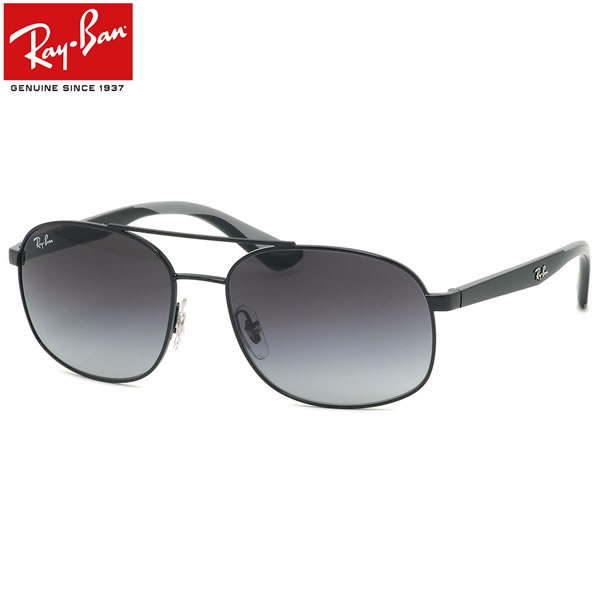 Ray-Ban レイバン サングラスRB3593 002/8G 58サイズダブルブリッジ ツーブリッジ ラバー コンビネーション ブラック グラデーションメンズ レディース