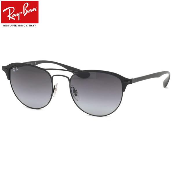 Ray-Ban レイバン サングラスRB3596 186/8G 54サイズLITEFORCE ライトフォース PK001 ブロー ツーブリッジ ダブルブリッジ グラデーションレンズ ブラックメンズ レディース