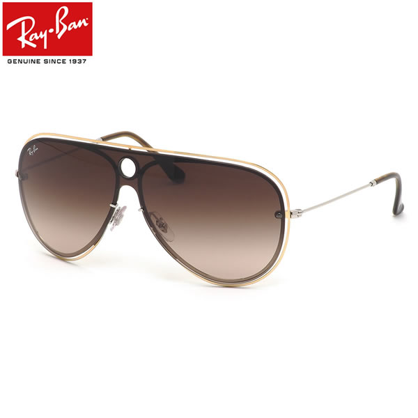 Ray-Ban レイバン サングラスRB3605N 909613 132サイズHIGHSTREET BLAZE SHOOTER ハイストリート ブレイズ シューター ツーブリッジ ダブルブリッジ 1枚レンズ ワンシールドメンズ レディース