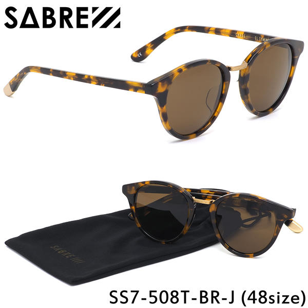 セイバー SABRE サングラスSS7-508 T-BR-J 48サイズEL CAMINO エル・カミーノ ボストン シンプル ヴィンテージ メタル トレンドセイバー SABRE メンズ レディース