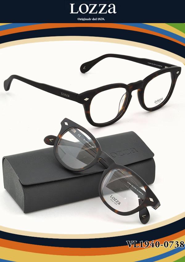 【LOZZA ダテメガネ】ロッツァ「DAMPYR」 VL1940 0738【伊達メガネ用レンズ無料!!】