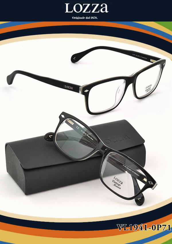 【LOZZA ダテメガネ】ロッツァ「BRENDON」 VL1941 0P71【伊達メガネ用レンズ無料!!】