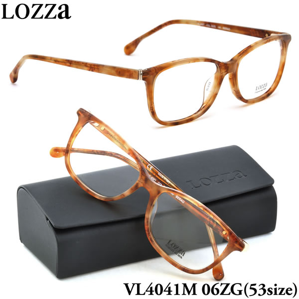 LOZZA ロッツァ 眼鏡 メガネ フレーム VL4041M 06ZG 53サイズ SERAO ボストン メンズ レディース