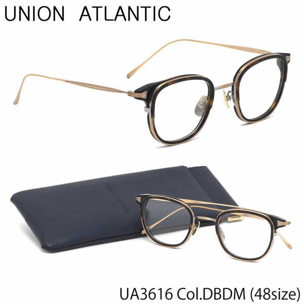 ユニオンアトランティック UNION ATLANTIC メガネUA3616 DBDM 48サイズAMIPARIS ウェリントン べっ甲 日本製 鯖江 Made in JapanユニオンアトランティックUNIONATLANTIC 伊達メガネレンズ無料 メンズ レディース