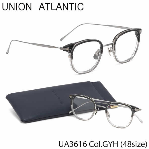ユニオンアトランティック UNION ATLANTIC メガネUA3616 GYH 48サイズAMIPARIS ウェリントン 日本製 鯖江 Made in JapanユニオンアトランティックUNIONATLANTIC 伊達メガネレンズ無料 メンズ レディース
