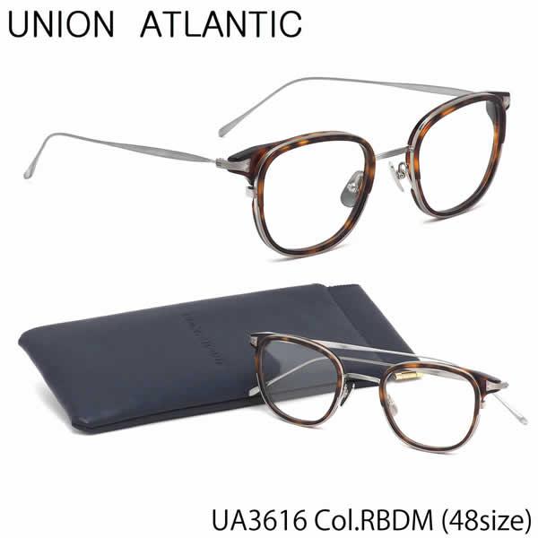 ユニオンアトランティック UNION ATLANTIC メガネUA3616 RBDM 48サイズAMIPARIS ウェリントン べっ甲 日本製 鯖江 Made in JapanユニオンアトランティックUNIONATLANTIC 伊達メガネレンズ無料 メンズ レディース